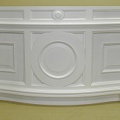white painted bath panel